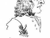 Caricature of Antonio Vivaldi by Pier Leone Ghezzi in 1723. Text translates to