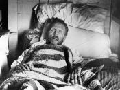 English: Father Damien on his deathbed, resting on his side. Presumably taken by Dr. Sydney B. Swift on Palm Sunday, April 14, 1889.