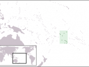 The location of the Cook Islands