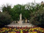 Old statue of Cyrano de Bergerac
