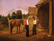 English: Bargaining for a Horse (1835) William Sidney Mount New-York Historical Society