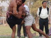 English: Mukna A Manipuri style wrestling