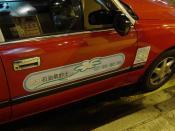 香港石油汽的士車身標誌。LPG taxi in Hong Kong.