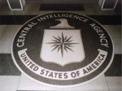 The -foot ( m) diameter granite CIA seal in the lobby of the original headquarters building.