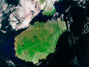 Satelite image of the Hainan island.