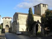 Français : Vianne, l'église et une des portes de la ville bastide (Lot-et-Garonne, France)