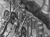 Depiction of sixteenth century cannon placements from Le diverse et artificiose machine del capitano Agostino Ramelli, page 708 of 720