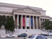 The National Archives building in Washington, DC