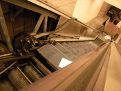 Escalator mechanism visible during repairs. Westlake Station, Downtown Seattle Transit Tunnel, Seattle, Washington.