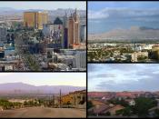 An image montage of the Las Vegas Metropolitan Area. From Top Left to Bottom Right: Las Vegas Strip City of Las Vegas North Las Vegas Henderson