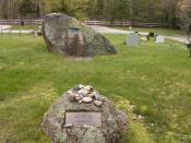 English: Jackson Pollock and Lee Krasner stones in Green River Cemetery in Springs, New York.