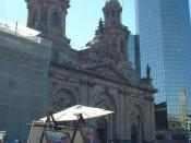 Santiago's Metropolitan Cathedral in the city's central square.