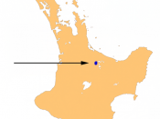 Location map of Lake Rotorua, Rotorua District, Bay of Plenty, New Zealand