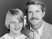 Publicity photo of Jodie Foster and Christopher Connelly from the television program Paper Moon.