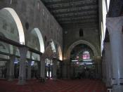 Interior of the Al Aqsa mosque on Haram al Sharif (Temple Mount) in Jerusalem.