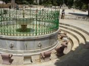 Washing station on the Temple Mount, Jerusalem, Israel.