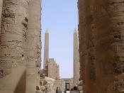 View from the Hypostyle Hall to the obelisks of Tuthmosis I and Hatshepsut