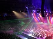 Classical Spectacular used ordinary stage lighting plus special laser effects