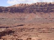 The Permian through Jurassic stratigraphy of the Colorado Plateau area of southeastern Utah.
