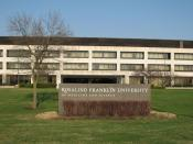 Building of the Rosalind Franklin University of Medicine and Science, on Green Bay Road, North Chicago, IL. The namesake is Rosalind Franklin of DNA crystallography fame.