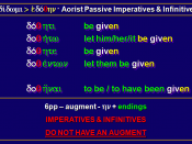English: Greek Aorist Passive Imperative and Infinitive of didomi