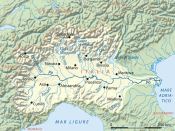 Drainage basin of Po River, Italian version