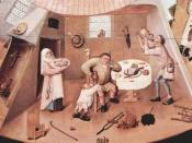 Portion depicting Gluttony in Hieronymus Bosch's The Seven Deadly Sins and the Four Last Things