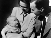 George and Barbara Bush with their first born child George W. Bush, while Bush was a student at Yale