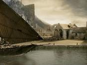 Corsair ships at Harlond, as depicted in The Lord of the Rings film trilogy