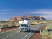 Driving - Lasseter Highway to Uluru-Kata Tjuta National Park