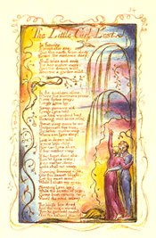William Blake's original plate for The Little Girl Lost.