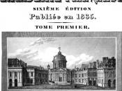 English: First page of the Sixth Edition of the Dictionnaire de l'Académie française
