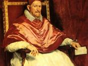 Portrait of pope Innocent X, by Diego Velázquez (1650). Roma, Galleria Doria-Pampili. Deutsch: Diego Velasquez, Papst Innozenz X (1650). Français : Diego Vélasquez, Pape Innocent X (1650). Español: Retrato del papa Inocencio X.