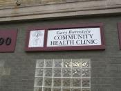 English: Burnstein Community Health Clinic, a free clinic in Pontiac, Michigan, United States