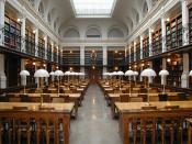 English: The main reading romm of Graz University Library (19th century) on 2 Sep 2003. Picture taken and uploaded by Dr. Marcus Gossler.