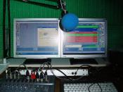 English: Picture of Penistone FM Studio in Internet Radio Configuration