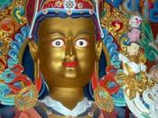 English: Padmasambhava, a picture I, John Hill, took in 2004 at the new Urgyen Sanag Choling Gompa (dedicated by H.H. The Dalai Lama on 8 June, 2004), near Kulu, H.P., India. nl:Afbeelding:Guru Rinpoche Padmasambhava.jpg