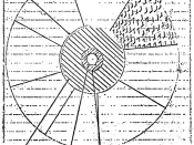 Greenglass's sketch of an implosion-type nuclear weapon design, illustrating what he gave the Rosenbergs to pass on to the Soviet Union.
