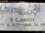 English: The grave marker of W.C. Handy in Woodlawn Cemetery, Bronx, NY