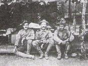 US troops in China during the Boxer Rebellion in 1900.
