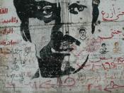 Palestinian graffiti tribute