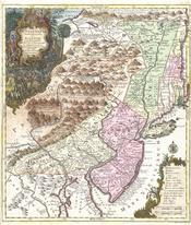 1756 Lotter Map of Pennsylvania, New Jersey ^ New York - Geographicus - PensylvaniaNovaJersey-lotter-1756