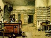 Michael Faraday in his lab, by Harriet Moore Español: Michael Faraday en su laboratorio, por Harriet Moore Deutsch: Michael Faraday in seinem Labor, von Harriet Moore