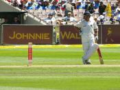 Sachin Tendulkar, Indian cricketer. 4 Test series vs Australia at Melbourne Cricket Ground