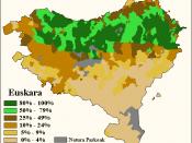 Linguistic map of Basque Country Natura parkeak: Natural parks Español: Mapa lingüístico del País Vasco Natura parkeak: Parques Naturales Statistics: Iparralde or French Basque Country: 2006 Hegoalde or Spanish Basque Country: 2001