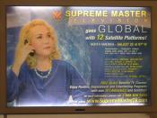 Supreme Master Television advertisement in SFO near baggage claim