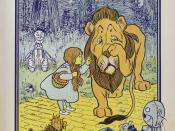 Dorothy meets the Cowardly Lion, from The Wonderful Wizard of Oz first edition.