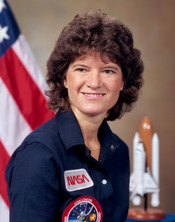 Sally Ride, the first American woman in space.