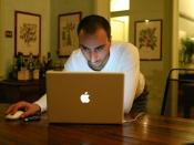Man and a MacBook