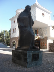 English: memorial house of mother teresa & monument, skopje, macedonia